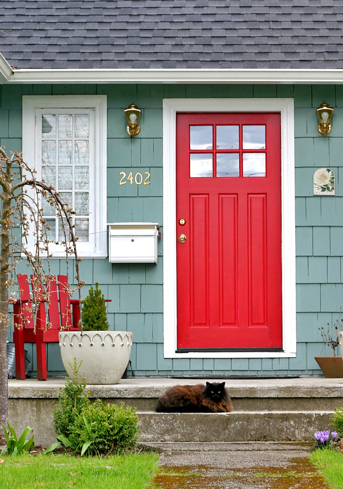 Paint Your Front Door A Bold Color Town Country Living