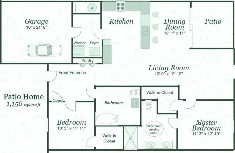Kitchen Floor Plans Island Independent Senior Patio Homes For Rent In Grand Island
