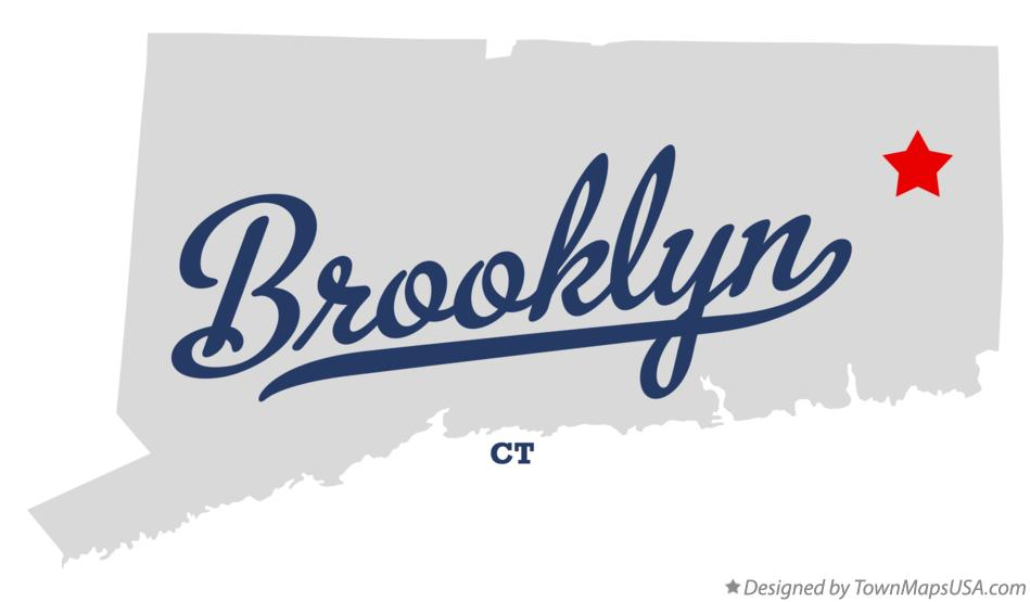 Map of Brooklyn, CT, Connecticut