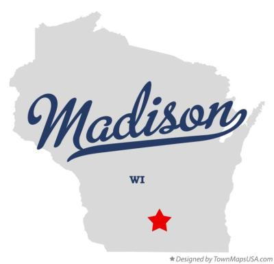 Wisconsin Map Madison WI