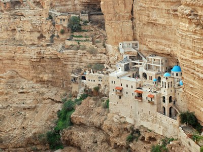 The monastery of Wadi Qelt Valley in Israel