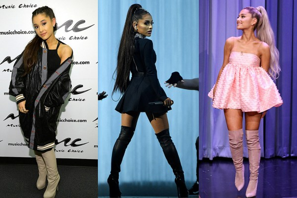 An Appreciation Of Ariana Grande39s Thigh High Boot Obsession