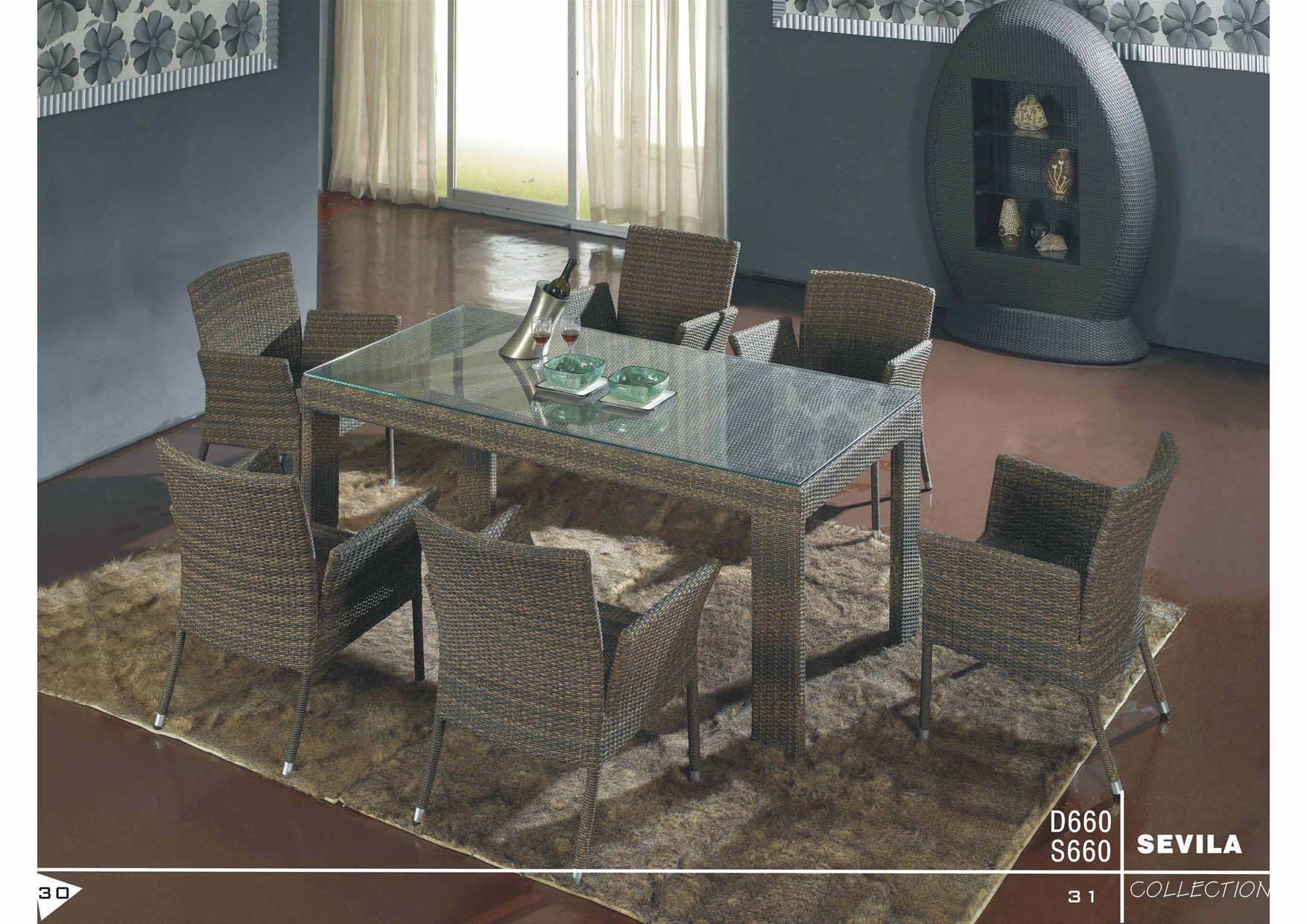 Rattan Wicker Dining Table Set Dongguan Toyard Furniture Co Ltd Outdoor Rattan Furniture For Hospitality