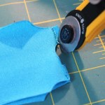 Trim seams as close to sew line as possible. Repeat after each sewing step.