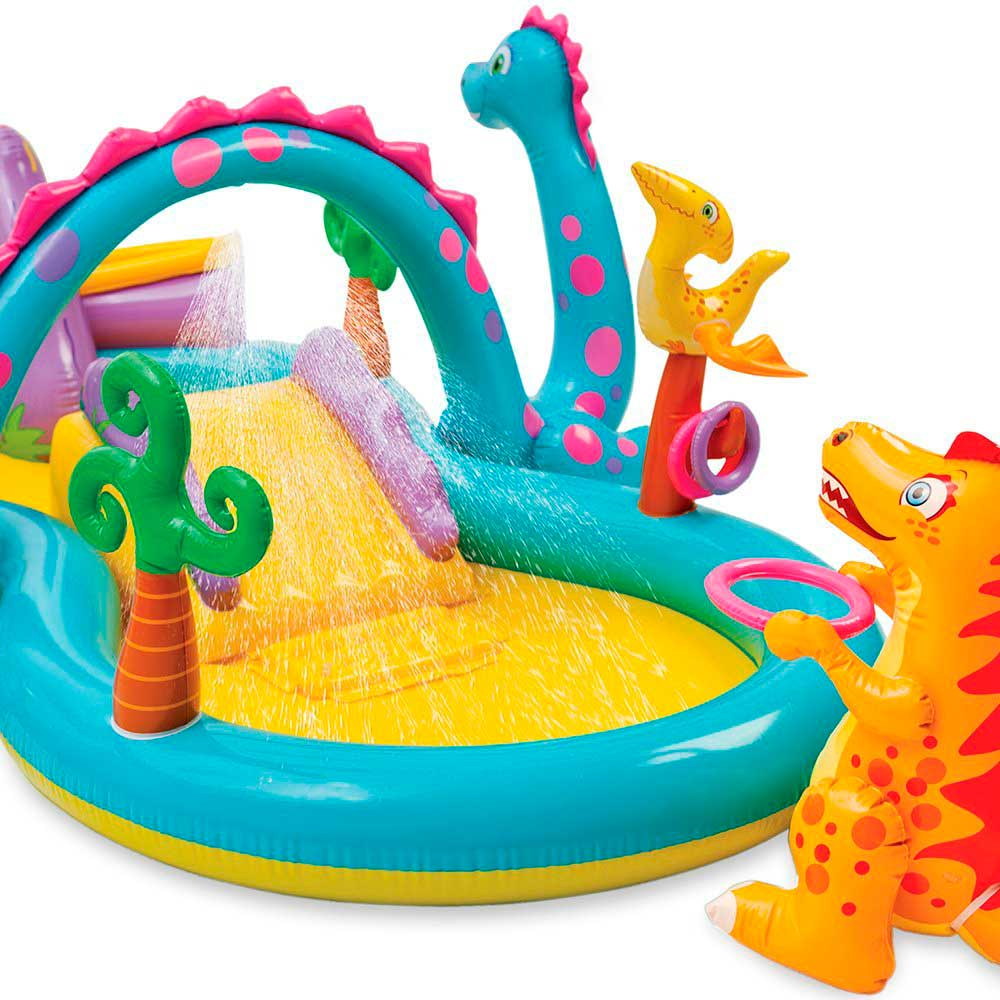 Piscinas Intex Site Piscina Playground Mundo Encantado Dos Dinossauros 280l Intex