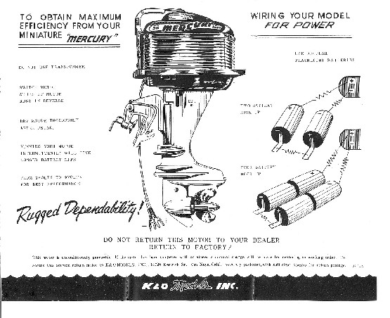 KO Toy Outboard Motors  Toy Outboard Instruction Sheets