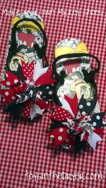 Disney Shoes and Hair Bow