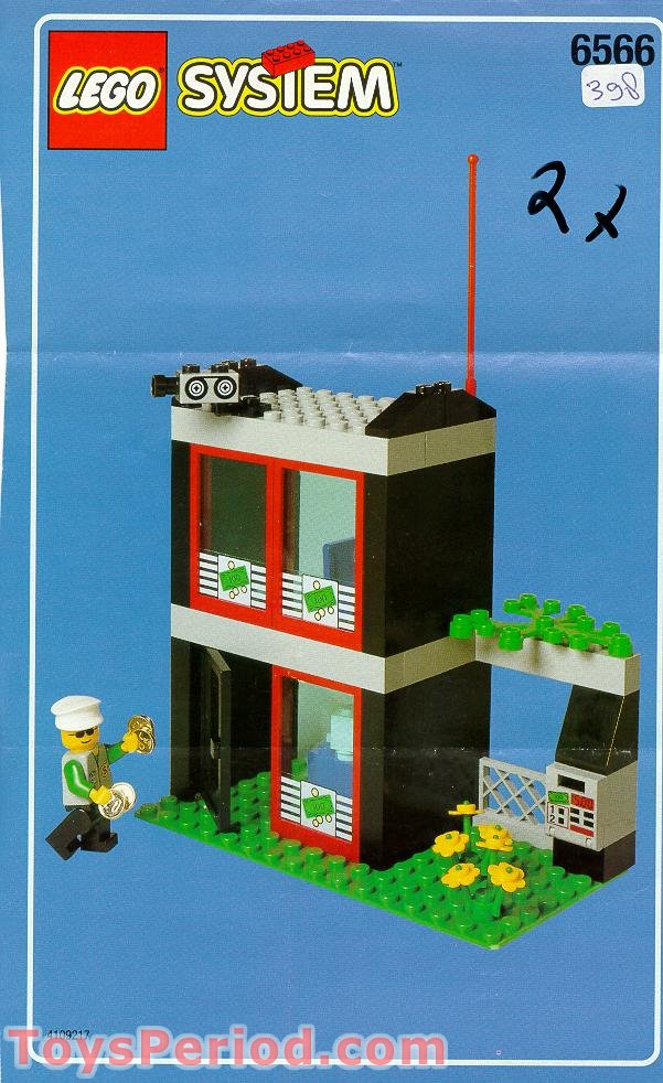 Bauanleitung Bank Lego 6566 Bank Set Parts Inventory And Instructions - Lego