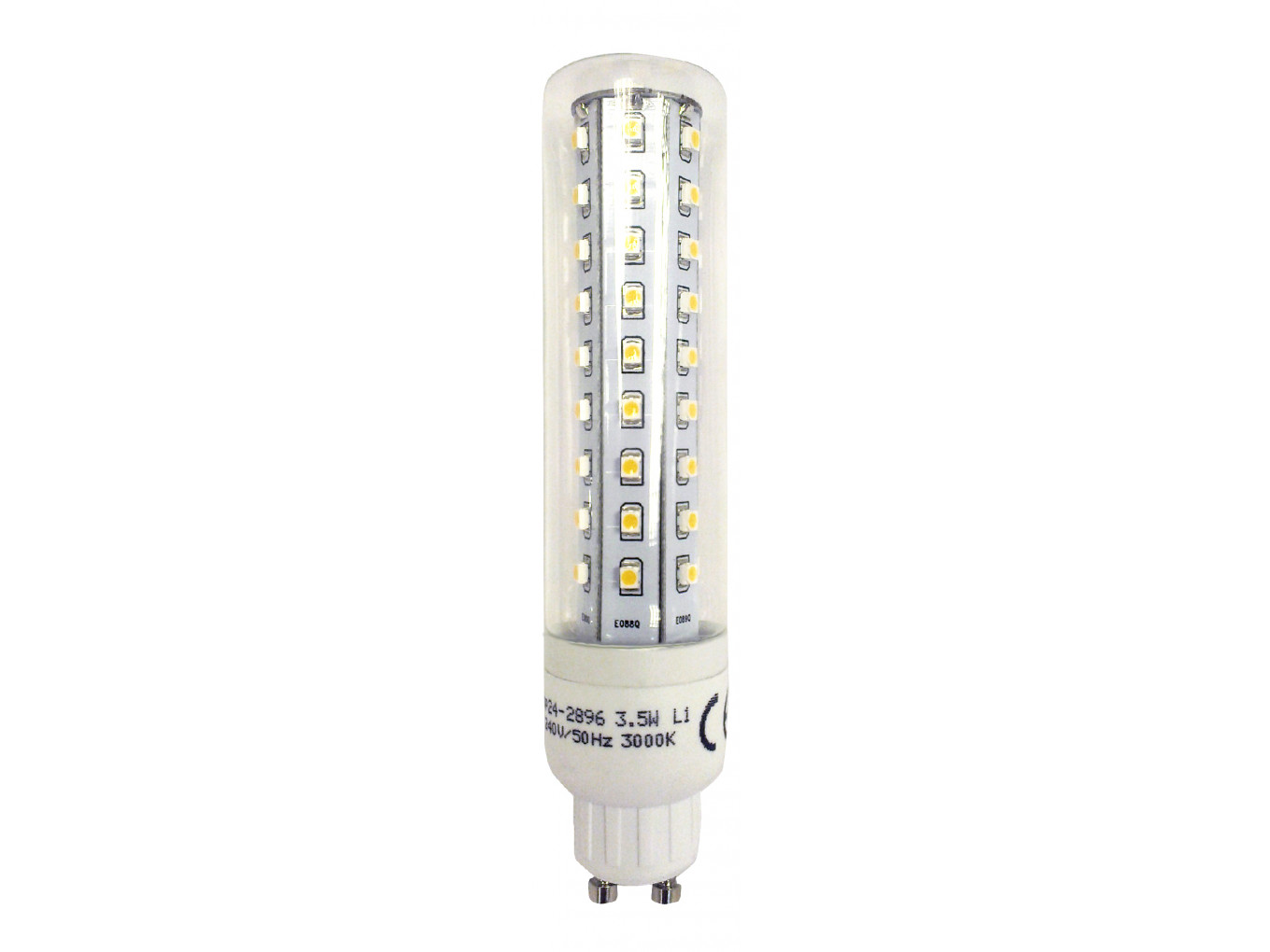 Gu10 Led 8600 L1 Gu10 Tube Lamp Led 3 5w Clear Glass 2896 And 2317