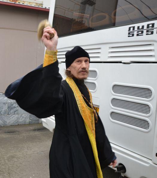 освящение новых автобусов ПАТП