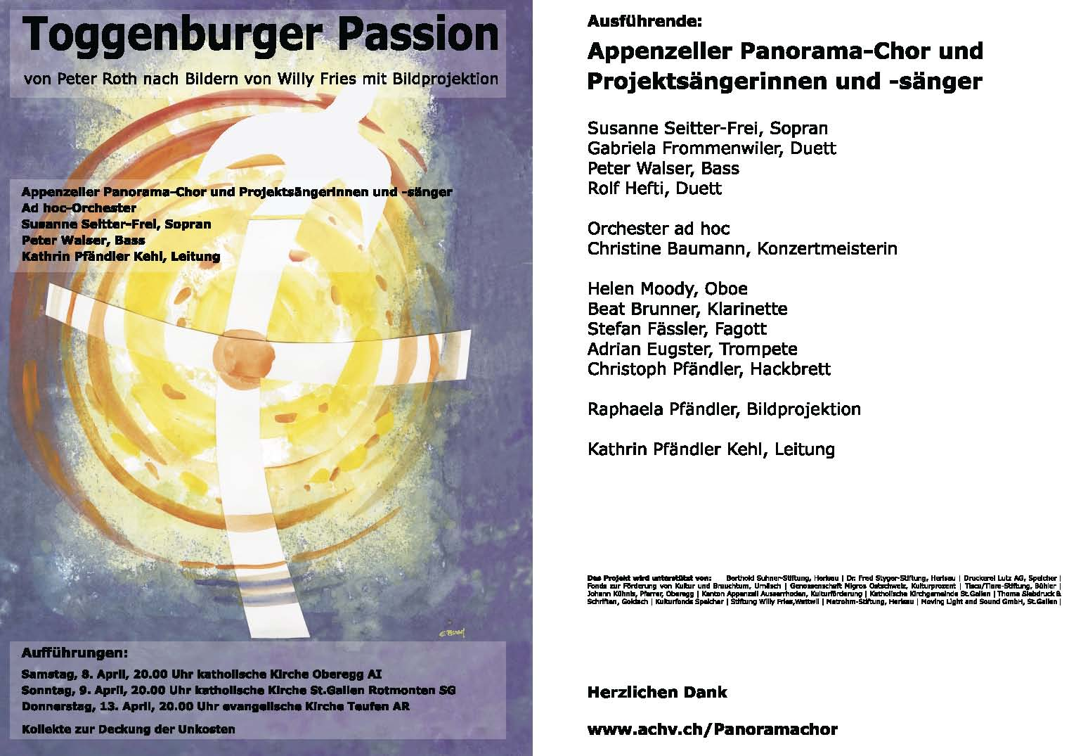 The Passion 2017 Toggenburger Passion Appenzeller Panorama Chor Tüüfner