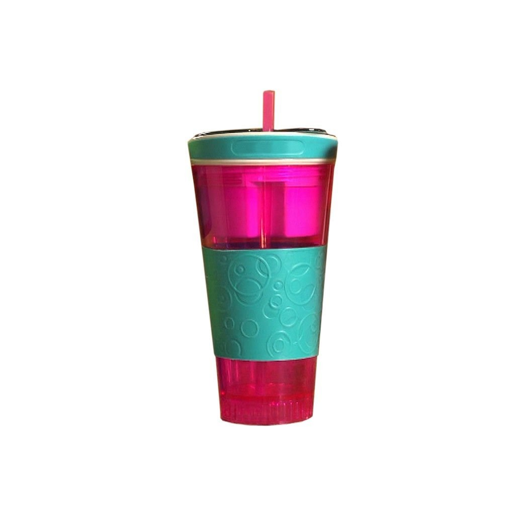 Cocktail Becher Snackeez Magic 2in1 Drink Snack Becher Pink Mint