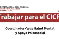 Oportunidad laboral con el CICR: Coordinador/a de Salud Mental y Apoyo Psicosocial