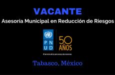 Naciones Unidas busca Asesor/a Municipal de Reducción de Riesgos en México