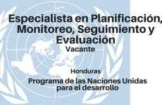 Vacante especialista en Planificación, Monitoreo, Seguimiento y Evaluación