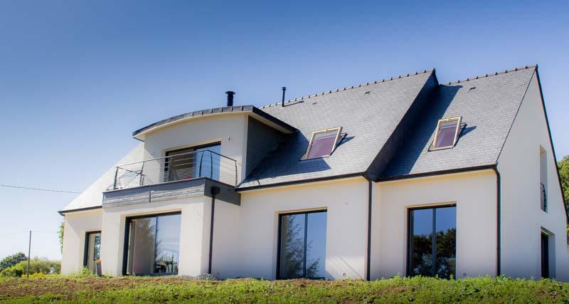 maison n o traditionnelle basse consommation constructeur de maison haut de gamme finistere. Black Bedroom Furniture Sets. Home Design Ideas