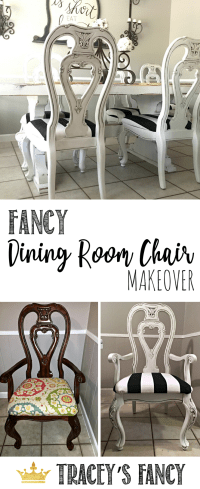 Glazed Dining Room Chairs Tracey's Fancy Chair Makeover ...