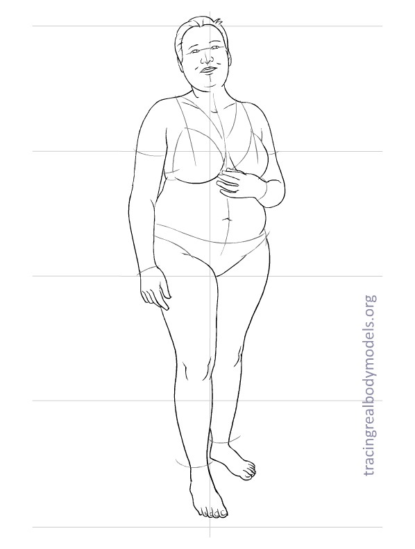 6 new real body models, 33 fashion figure templates Tracing Real - fashion template