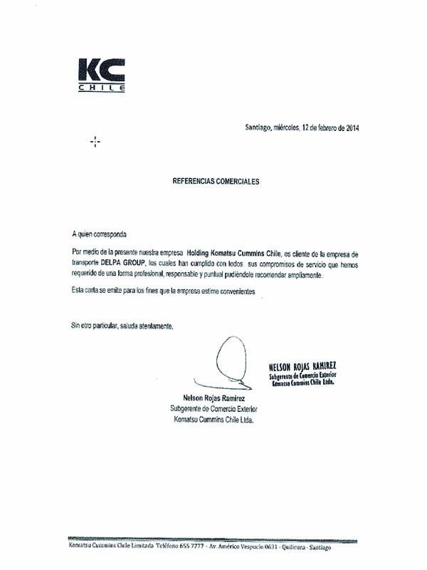 Cartas de Recomendación Delpa Group Ecuador