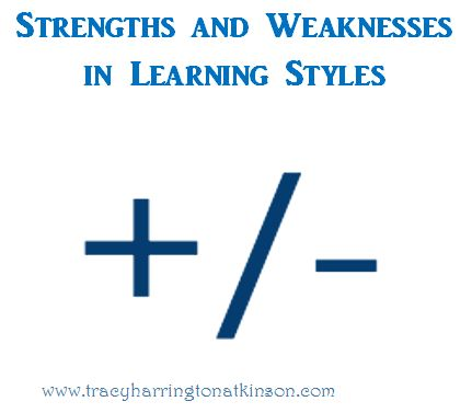 Strengths and Weaknesses in Learning Styles - Paving the Way