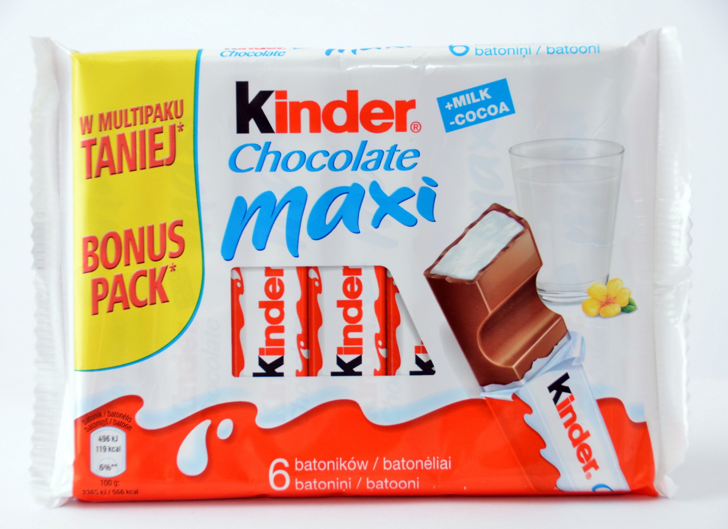 Kinder Maxi Big Pack Kinder Chocolate Maxi T6 6x21 G 126g Confectionery