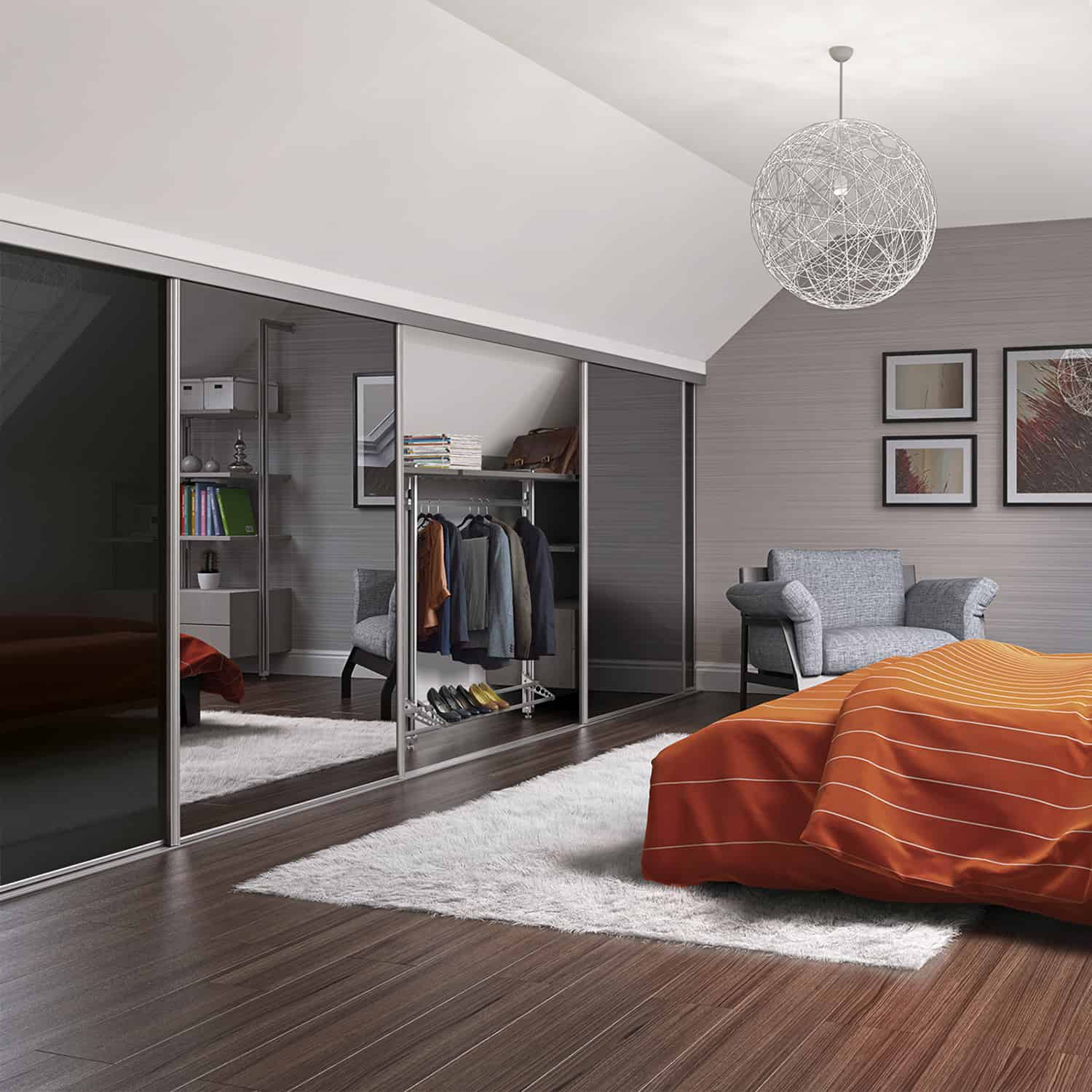 Loft Style Window Mirror Sliding Doors And Fitted Wardrobes Trade Bedrooms Design