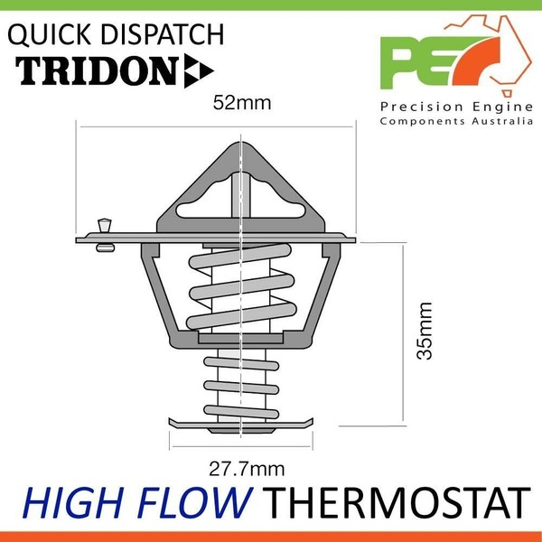 New * TRIDON * High Flow Thermostat For Toyota Hilux VZN130 30L
