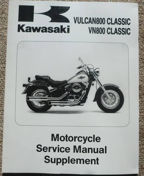 Kawasaki VN800 Classic Supplementary Manual Trade Me