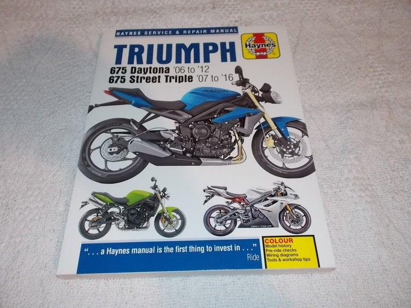 Triumph 675 Daytona 06-12  675 Street Triple 07-16 Haynes Manual