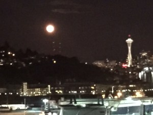 blood moon over Seattle