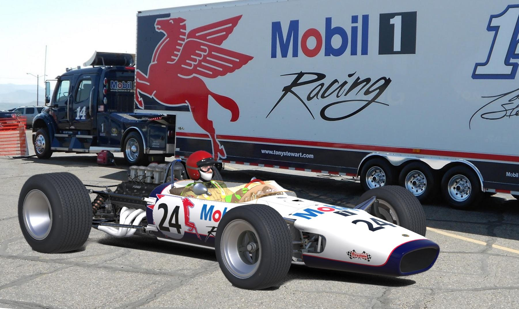 Mobil Libre Lotus 49 Mobil By Don Craig Trading Paints
