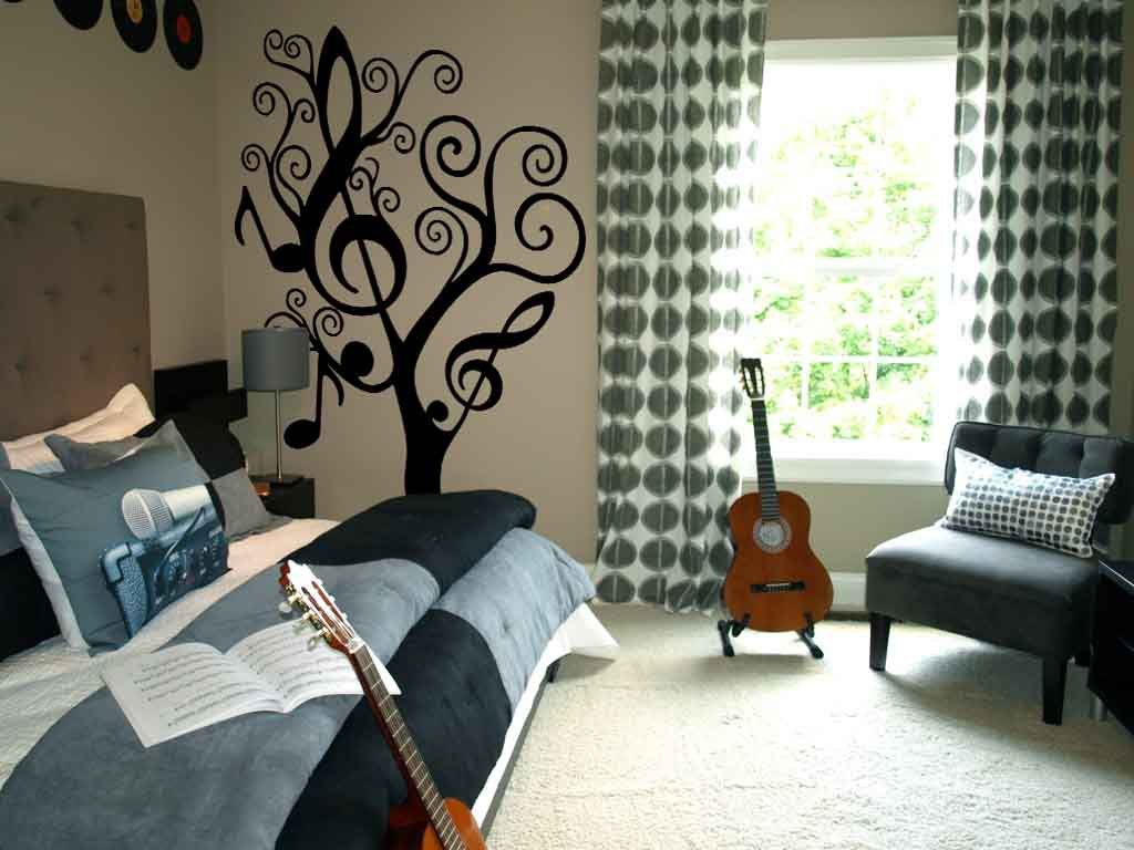 Music Themed Room Ideas Music Tree Large Decals Trading Phrases