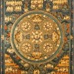 Dark Blue Five Paths Mandala