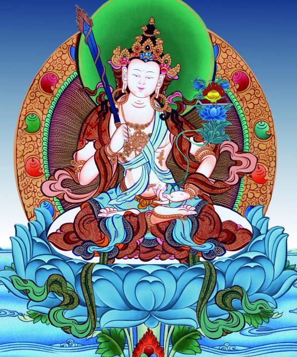 Akasagarbha Thangka Painting