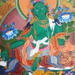 Green-Tara-thangka-detail