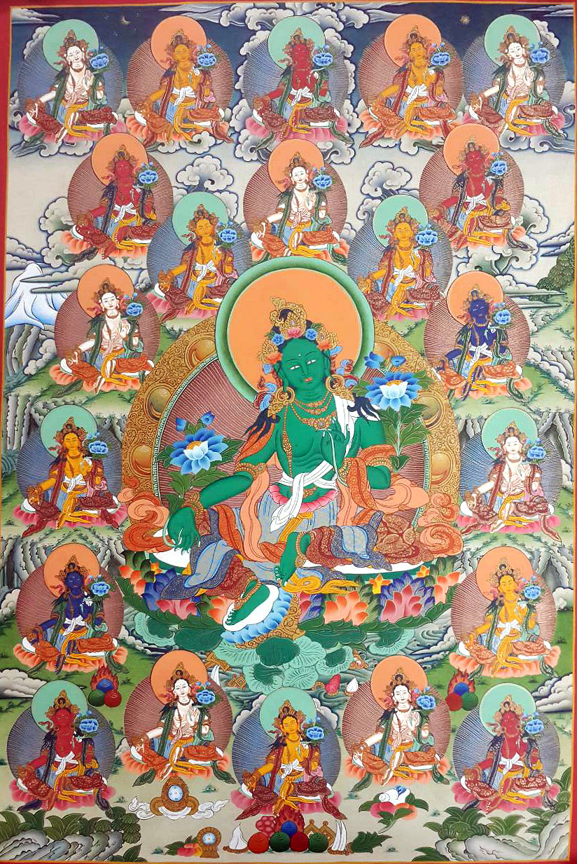 21 Tara Thangka Painting