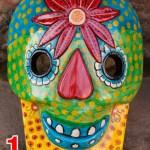 Wooden Skull Mask