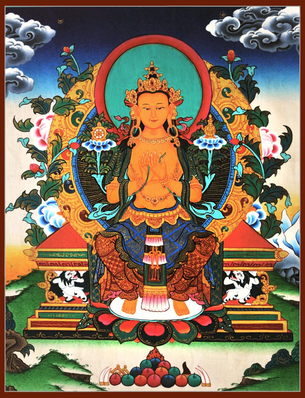 Thanka of Maitreya the Buddha of the future