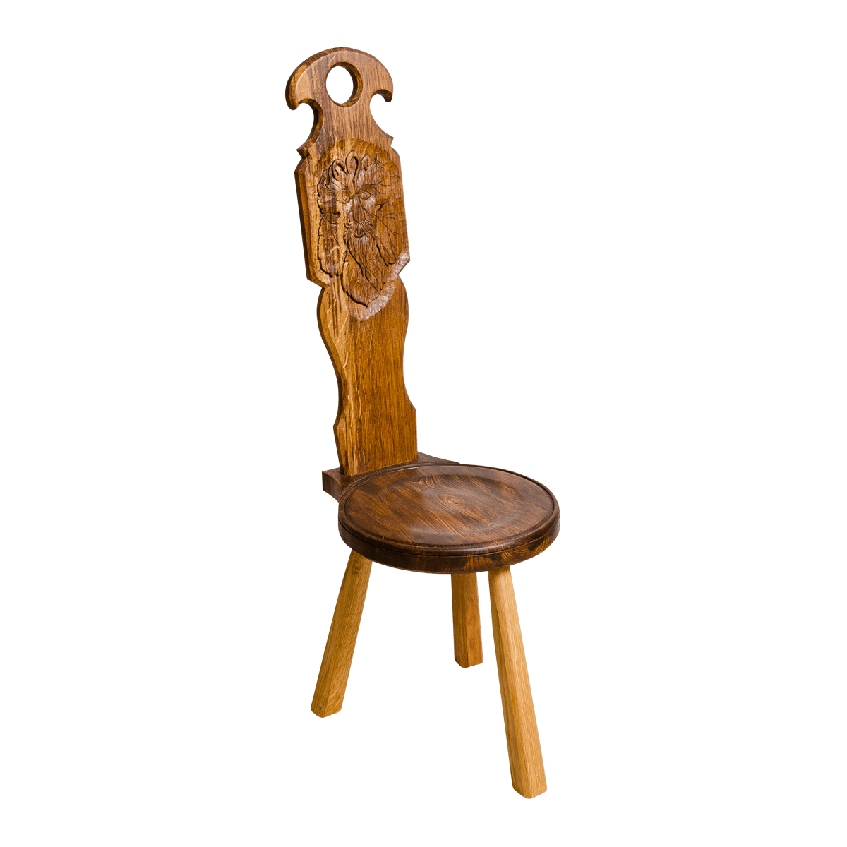 Spinning Chair Spinning Chair With Green Man Carving