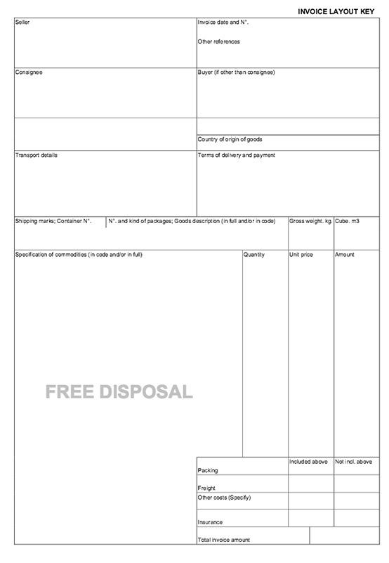 La factura comercial documento básico para la exportación