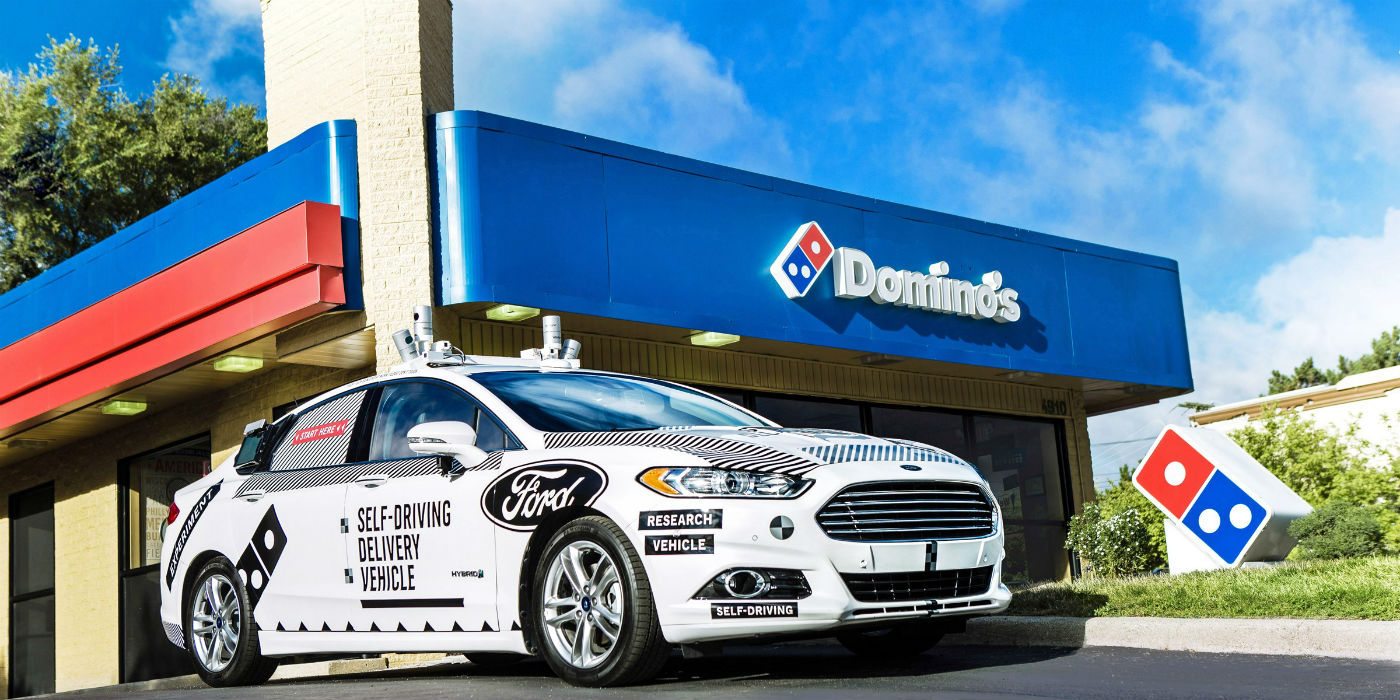 Dominos Ford Domino S Lead In Autonomous Car Deliveries Traffic