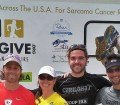 picture of lara robinson with group from Miles 2 Give Run for Sarcoma Cancer
