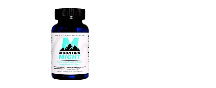 Picture of the bottle of Mountain Might altitude training supplement