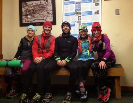 Dress for the weather - mid run break in a warming hut. Snowbird, UT.