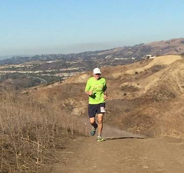 Hit by a bus trail runner Leon Gray