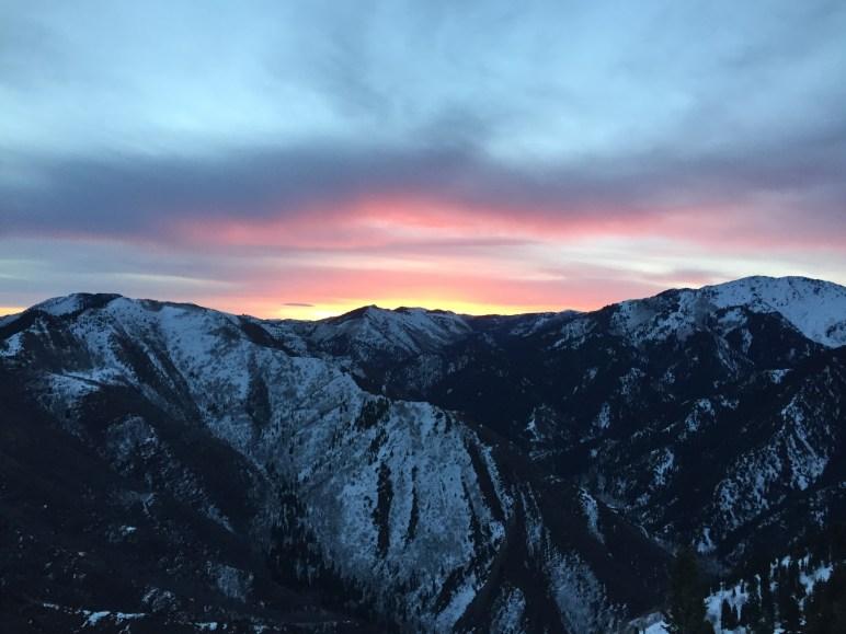 Sunrise from Grandeur. Photo Courtesy of Jennilyn Eaton.