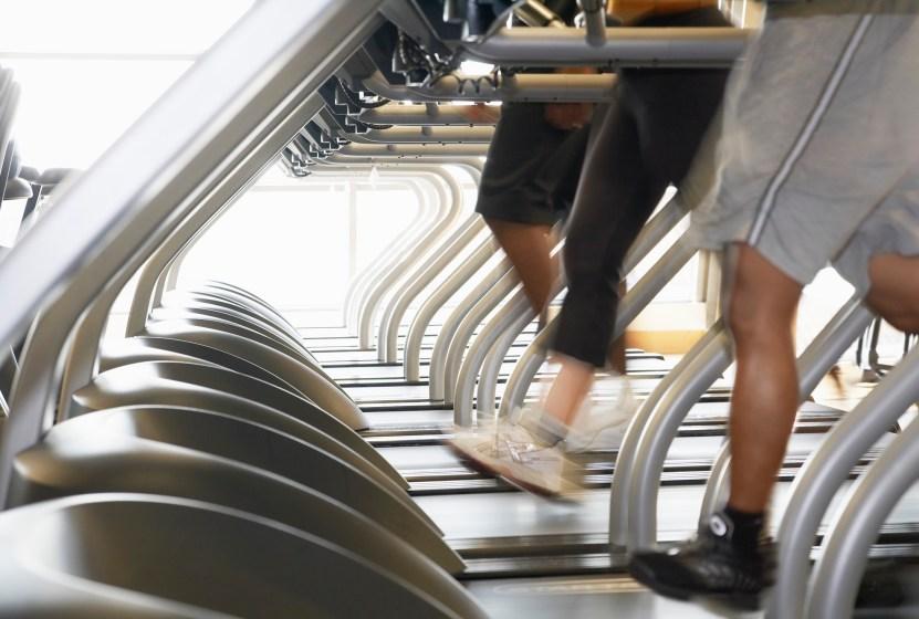 People Exercising on Treadmills
