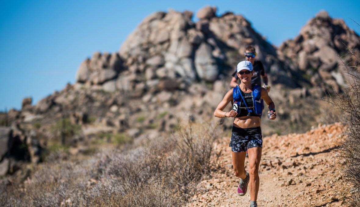 Dana Anderson running the Javelina Jundred