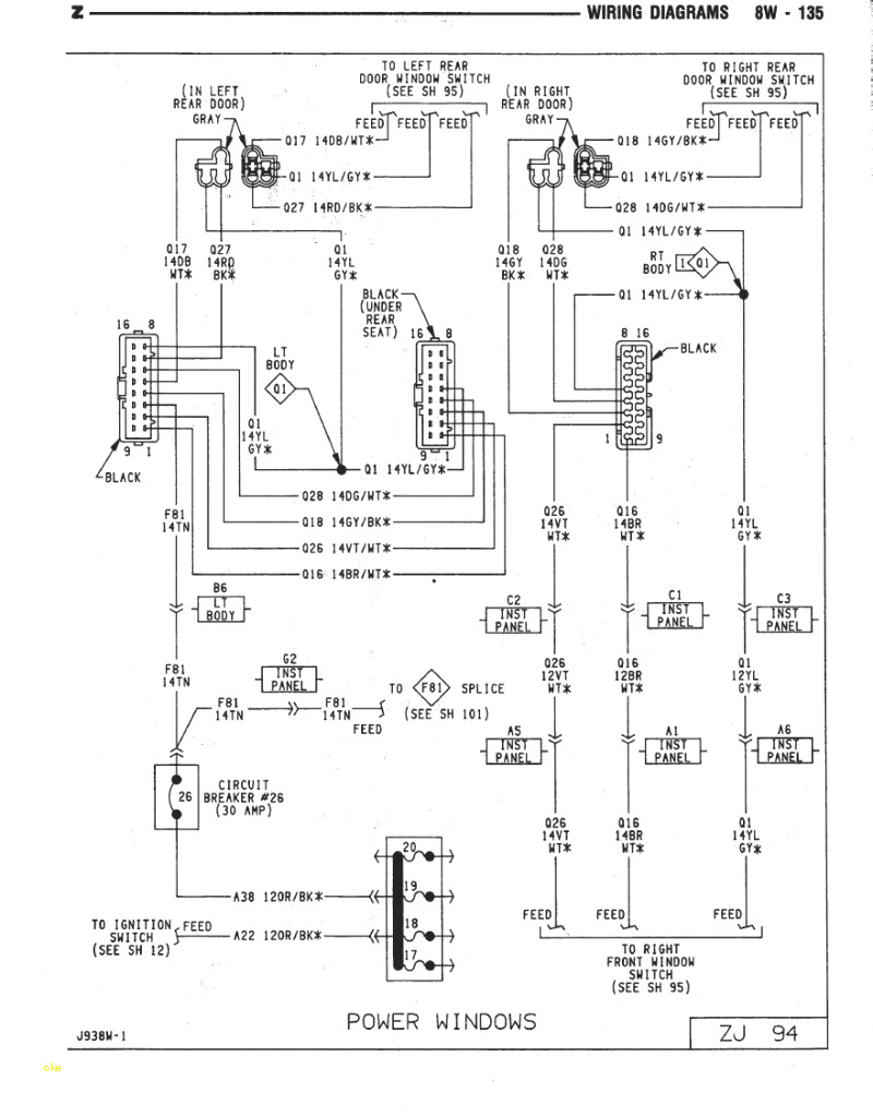 cherokee stereo wiring diagram for vehicle