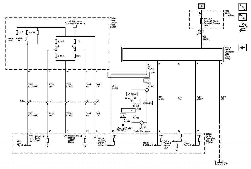 Wiring Diagram For Trailer Brake Controller Trailer Wiring Diagram
